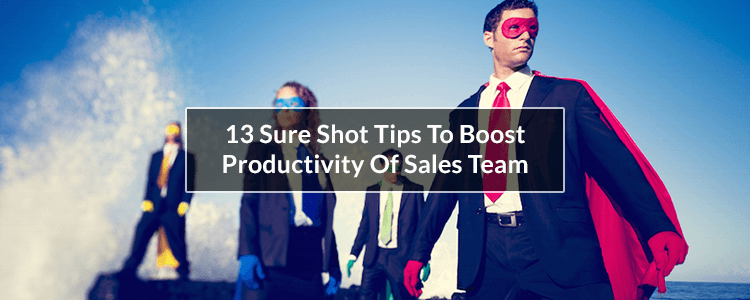 boost productivity of sales team