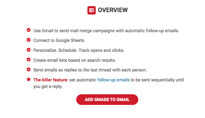 cold emailing tools gmass