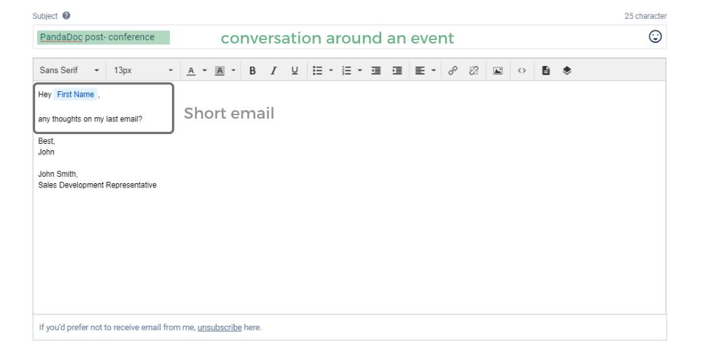 Pandadoc Follow-up email