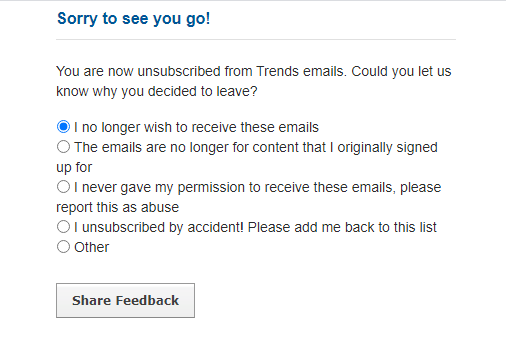 feedback loop to optimize email deliverability