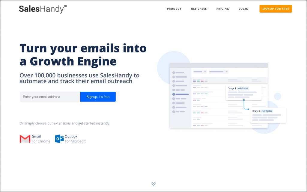 Signup with SalesHandy