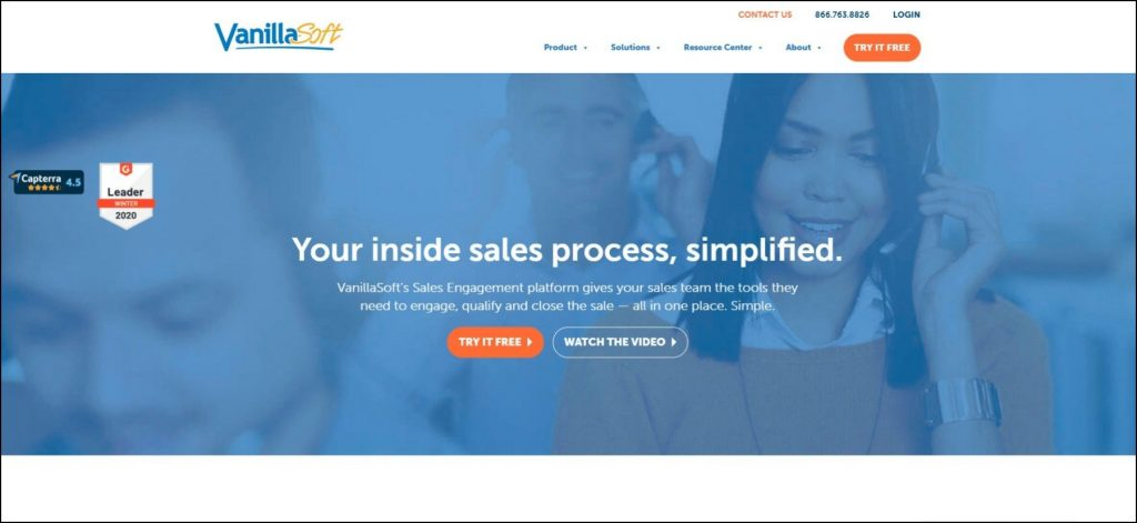 vanillasoft-home-page