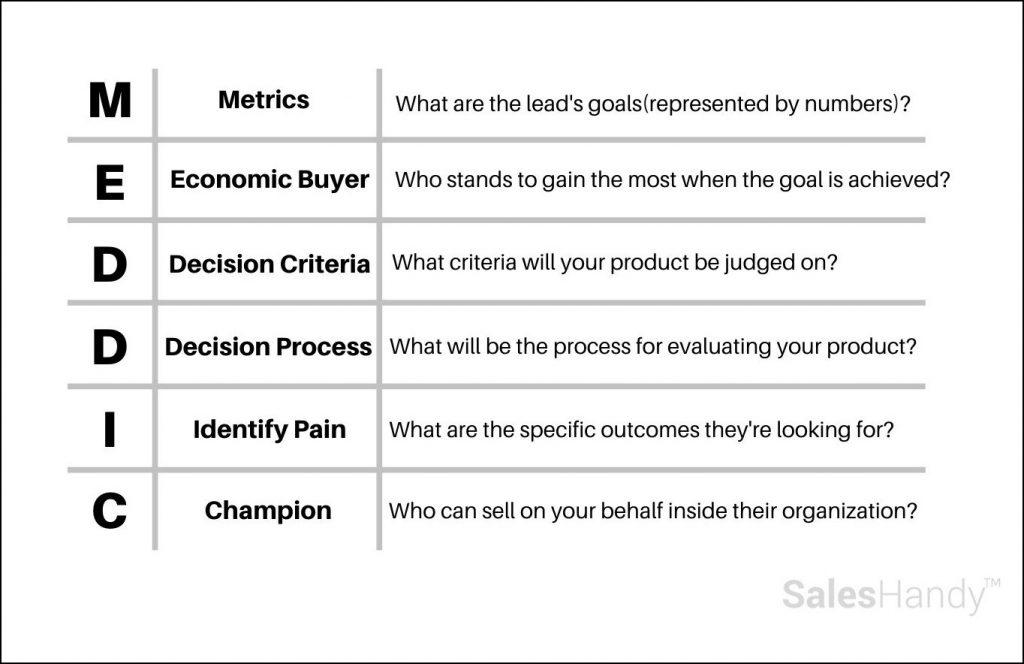 meddic lead qualification framework