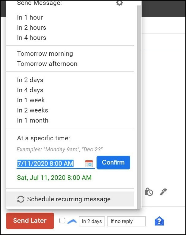 Boomerang vs gmelius email scheduling