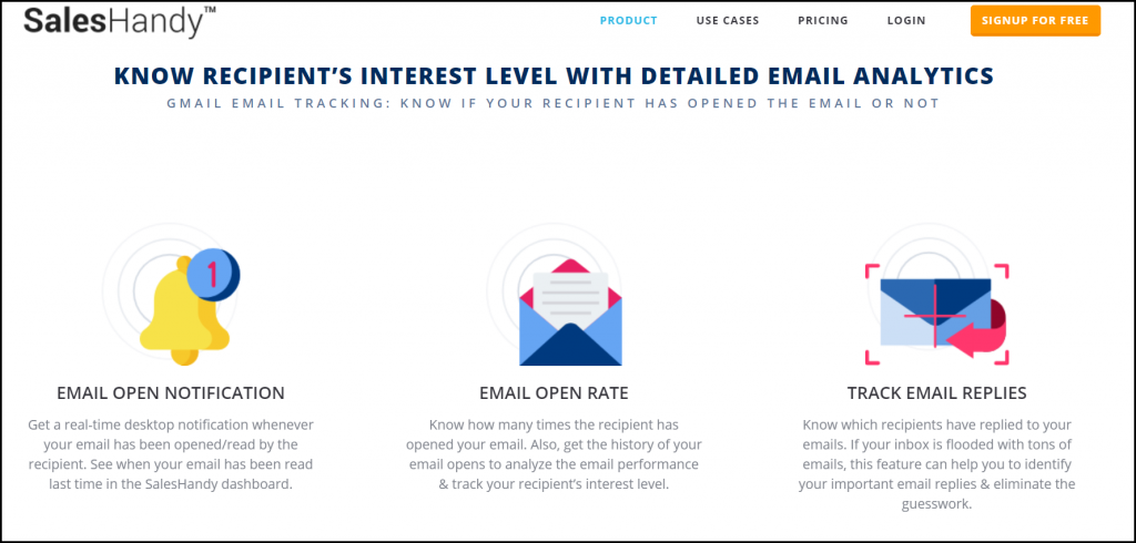 saleshandy email tracking tool