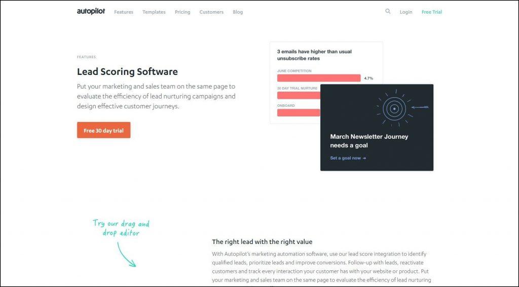 Sales Prospecting Tools- Lead scoring- Autopilot