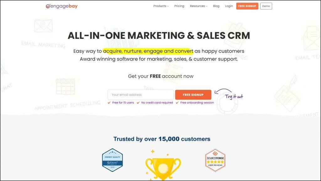 Sales Prospecting Tools- Sales CRM- EngageBay