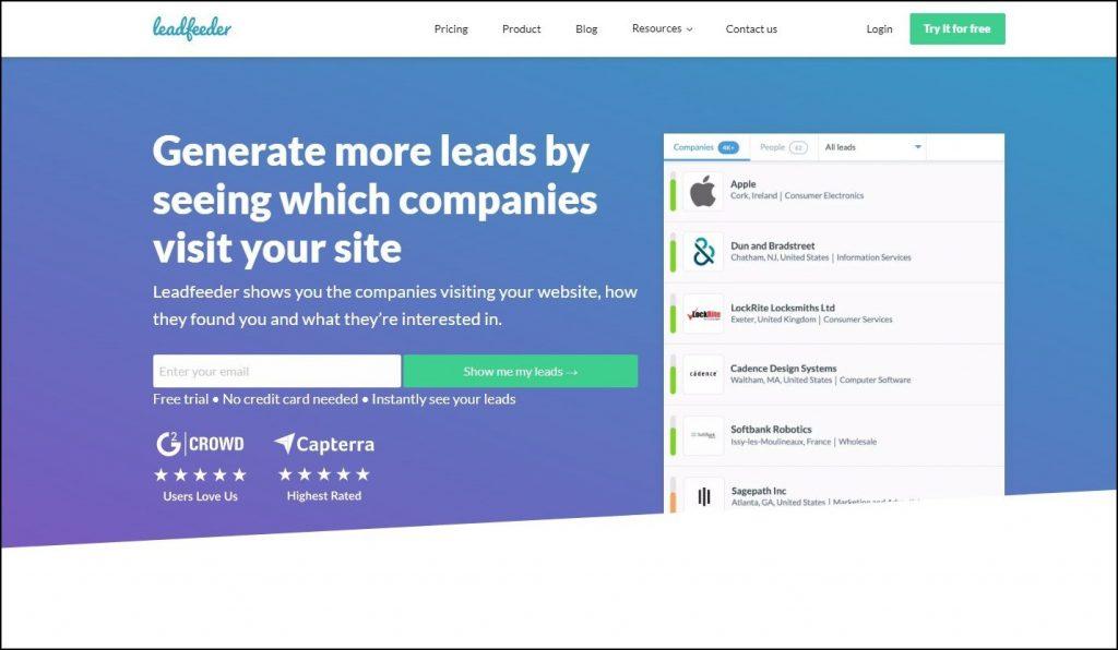 Sales Prospecting Tools- Lead generation- Leadfeeder