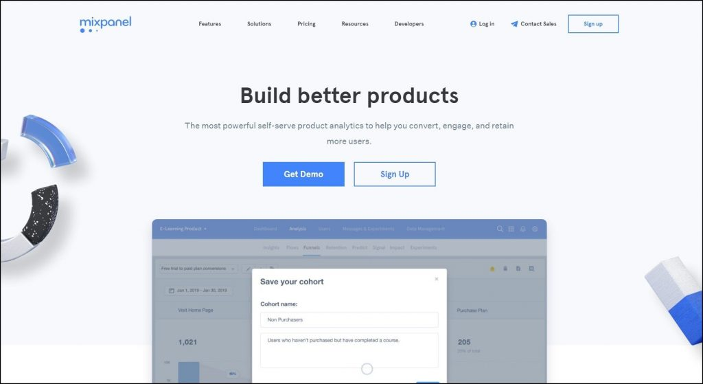 Sales Prospecting Tools- Lead scoring- Mixpanel