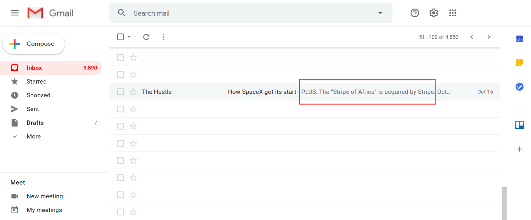 email subject snippet