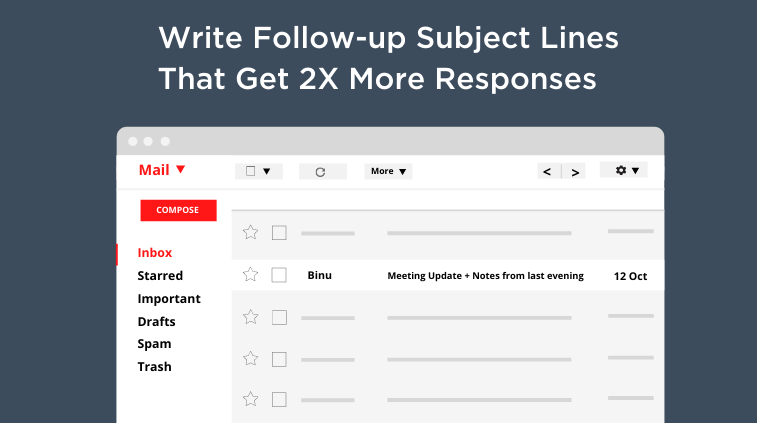 How To Write Follow-up Email Subject Lines That Double Your Response Rates