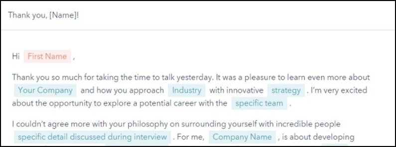 interview follow-up email example