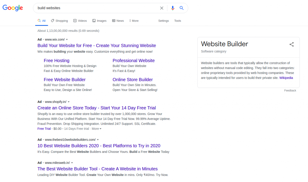 search ads b2b lead generation