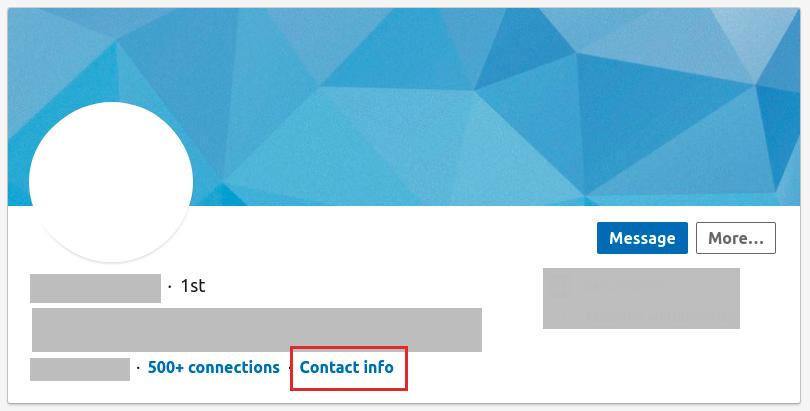 LinkedIn prospecting contact info