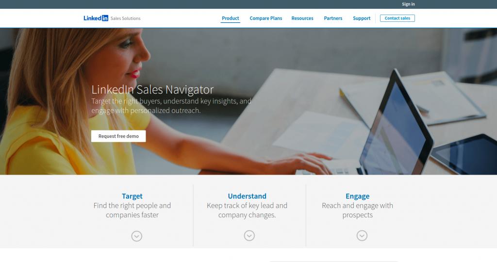 Use Linkedin sales navigator for prospecting.