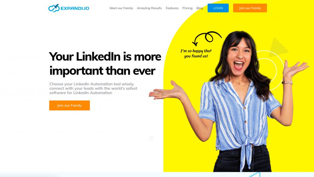 LinkedIn prospecting tool expandio