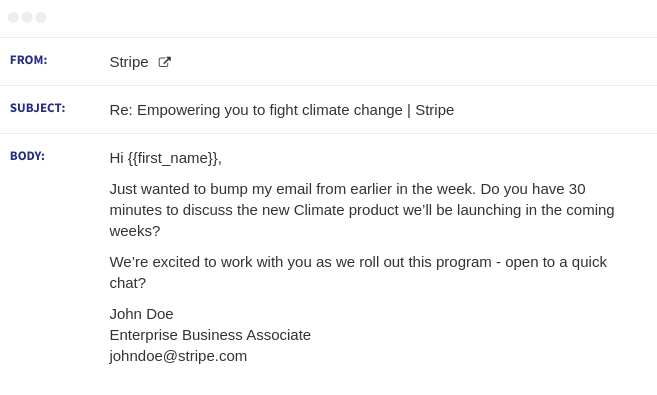 stripe email sequence 2