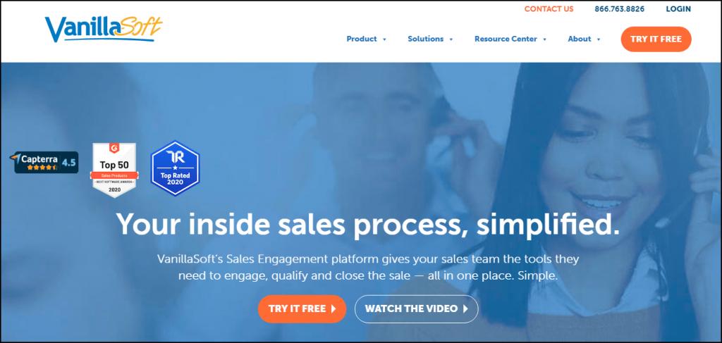 vanillasoft a sales engagement tool