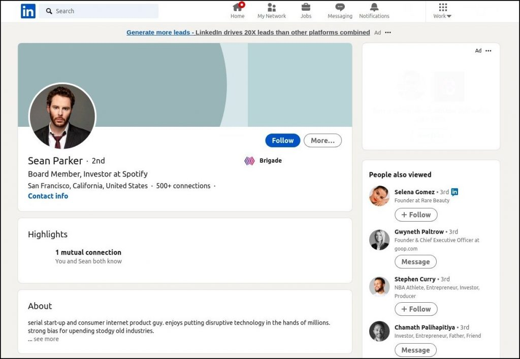 how to find decision makers in a company using Linkedin