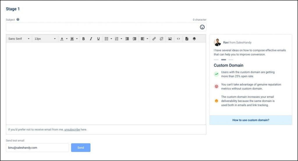 write and edit templates to find decision makers in a company