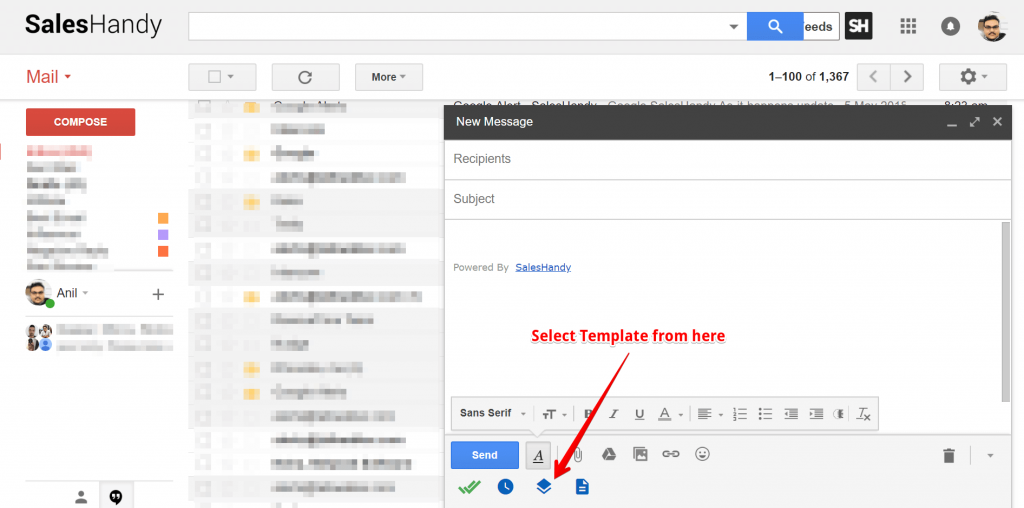 Inbox to send html email