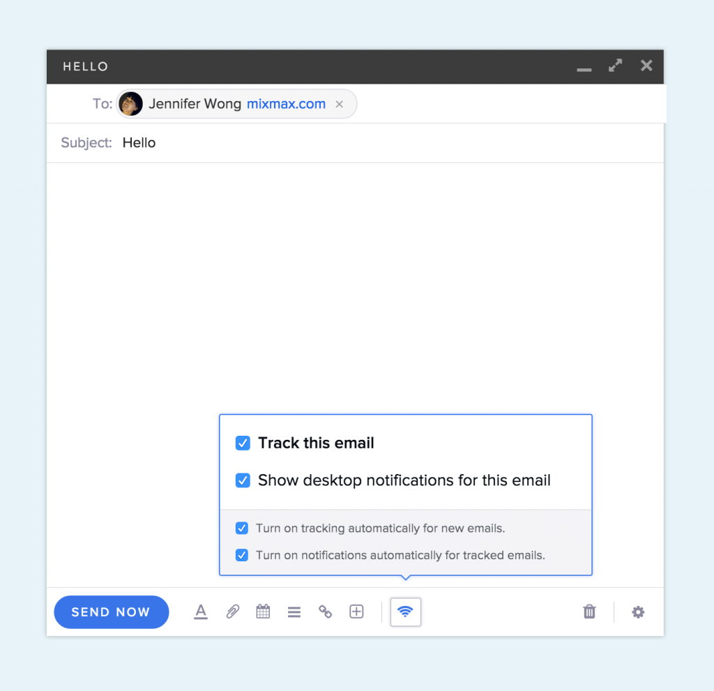 Mixmax email tracker