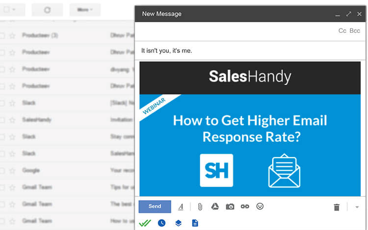 Send HTML email template